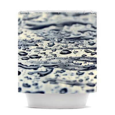 Blue Ice by Ingrid Beddoes Raindrops Shower Curtain