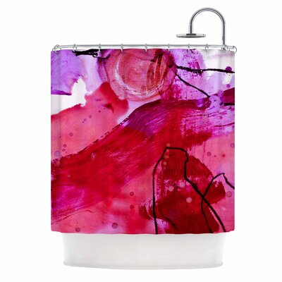 Abstract by Iris Lehnhardt Shower Curtain