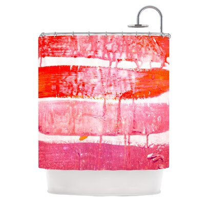 Coral Paint Wash by Iris Lehnhardt Shower Curtain