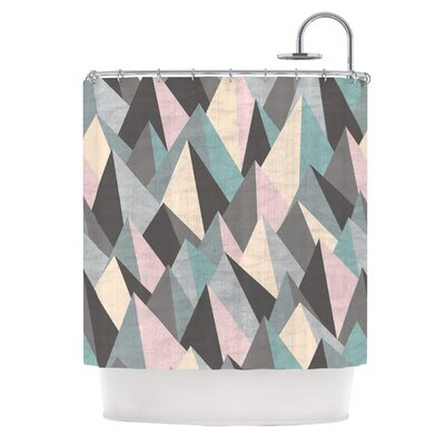 Mountain Peaks III by Michelle Drew Pastel Geometric Shower Curtain