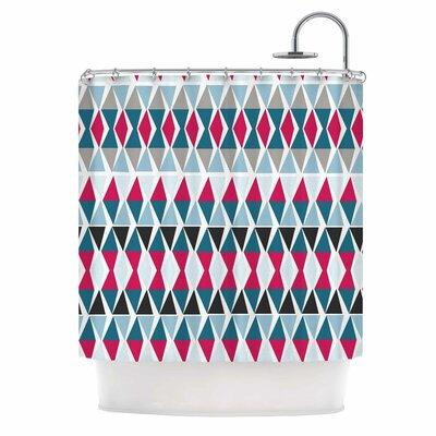 Triangle Circus Drums by Michelle Drew Shower Curtain