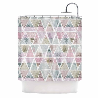 Triangle Mountains by Michelle Drew Shower Curtain