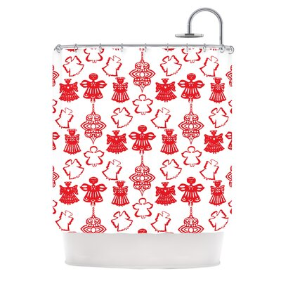 Angels Singing by Miranda Mol Holiday Shower Curtain
