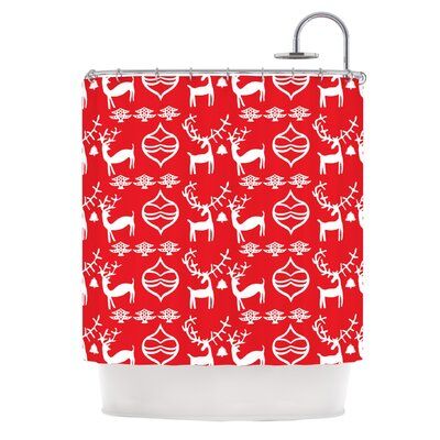 Antler Fun by Miranda Mol Holiday Shower Curtain