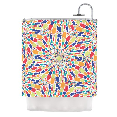Flourishing by Miranda Mol Geometric Shower Curtain