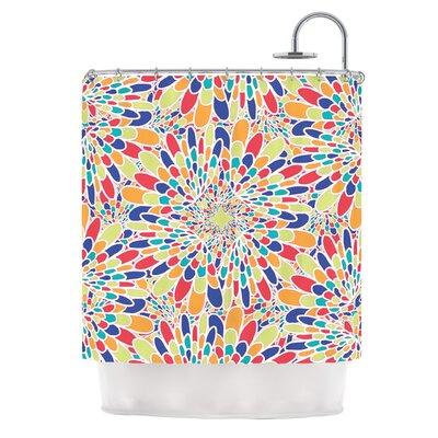 Flourishing by Miranda Mol Geometric Shower Curtain