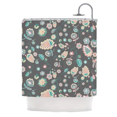 Cute Winter Floral by Nika Martinez Pastel Shower Curtain
