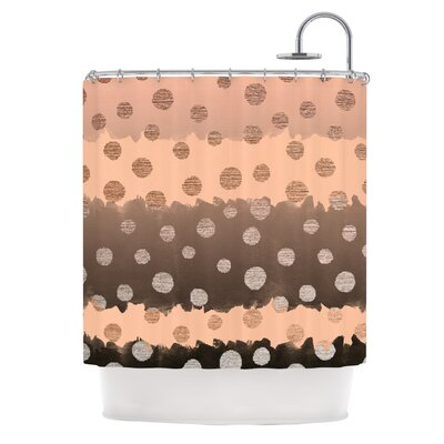 Earth Dots by Nika Martinez Metallic Shower Curtain