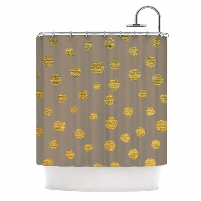 Earth Dots by Nika Martinez Shower Curtain