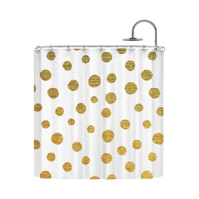 Golden Dots by Nika Martinez Shower Curtain