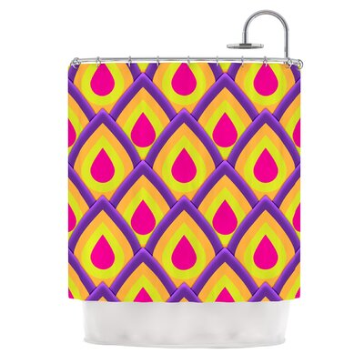 Pineapple by Roberlan Shower Curtain