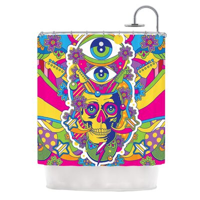 Skull by Roberlan Illustration Shower Curtain