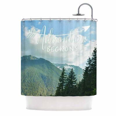 Adventure Beckons by Robin Dickinson Nature Landscape Shower Curtain