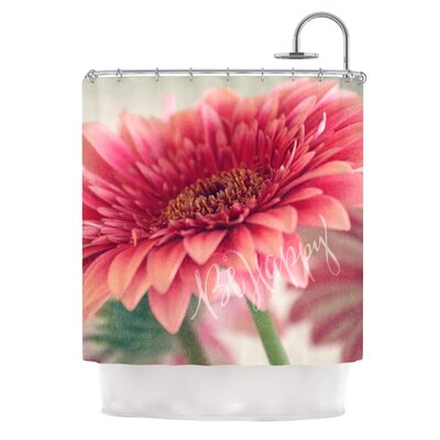 Be Happy by Robin Dickinson Floral Shower Curtain