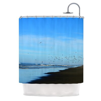 Beach Hair by Robin Dickinson Coastal Shower Curtain