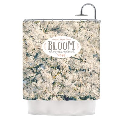 Bloom Where You Are Planted by Robin Dickinson Floral Shower Curtain