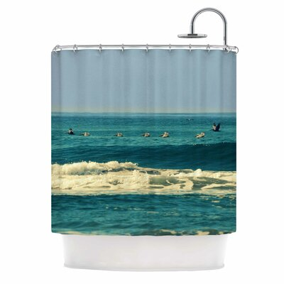 Break Free and Soar by Robin Dickinson Ocean Wave Shower Curtain