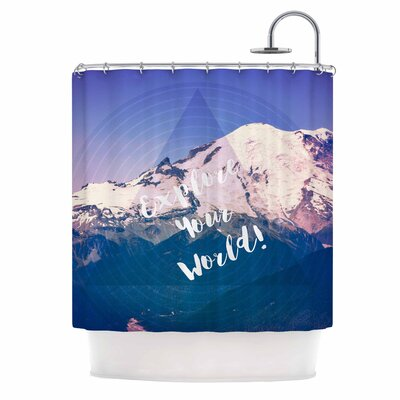 Explore Your World! by Robin Dickinson Shower Curtain