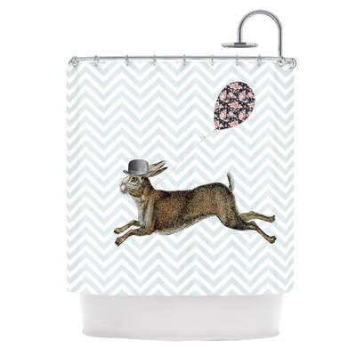 Hare Today by Suzanne Carter Rabbit Shower Curtain