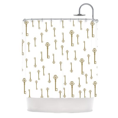 Vintage Gold Keys II by Suzanne Carter Shower Curtain