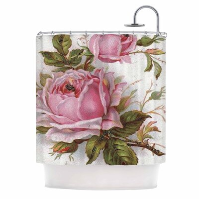 Vintage Rose by Suzanne Carter Floral Shower Curtain