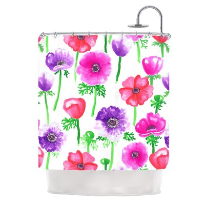 Anemones by Anneline Sophia Flowers Shower Curtain
