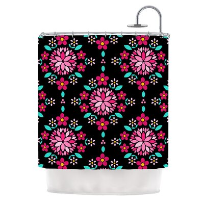Dahlia Mandala by Anneline Sophia Shower Curtain