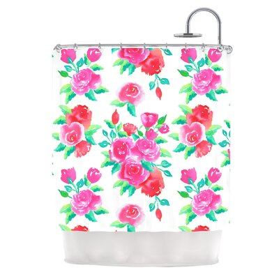 Roses by Anneline Sophia Floral Shower Curtain