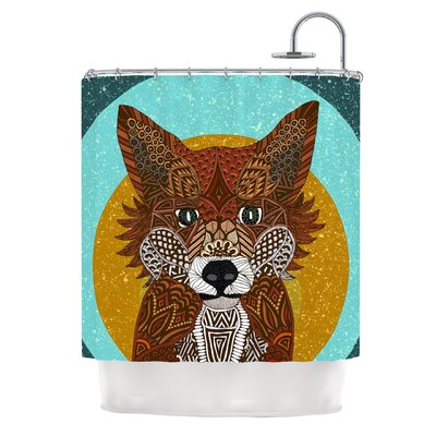 Colored Fox by Art Love Passion Shower Curtain