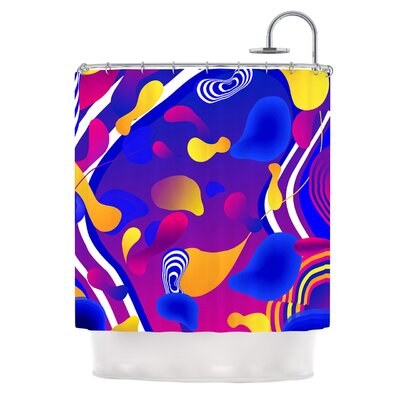 Bubbles by Danny Ivan Shower Curtain