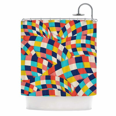 Curved Squares by Danny Ivan Shower Curtain