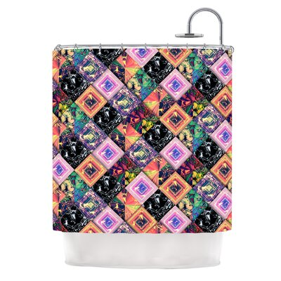 Never Run Away by Danny Ivan Geometric Shower Curtain
