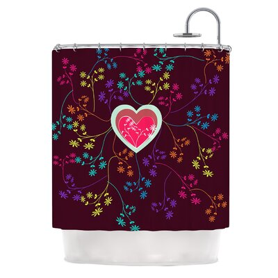 Love Heart by Famenxt Heart Shower Curtain