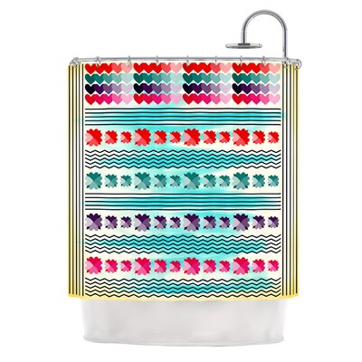 Love Pattern by Famenxt Shower Curtain