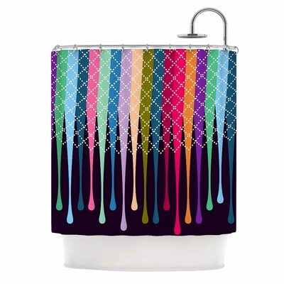 Rainbow Drops by Famenxt Argyle Shower Curtain