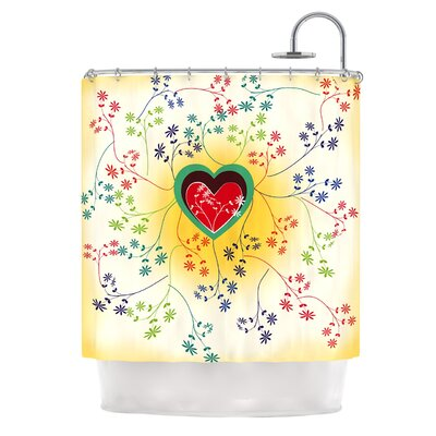 Romantic by Famenxt Heart Shower Curtain