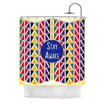 Stay Awake by Famenxt Shower Curtain