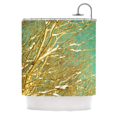 Snow Covered Twigs by Iris Lehnhardt Shower Curtain