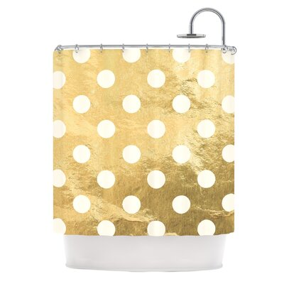 Scattered Metallic Shower Curtain