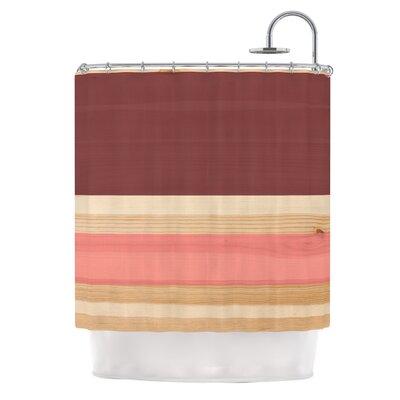 Spring Swatch Marsala Strawberry Shower Curtain