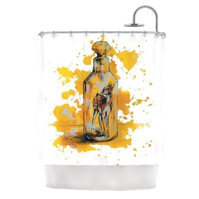 Vintage Bottled Deer by Kira Crees Shower Curtain