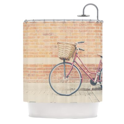 Bicycle by Laura Evans Shower Curtain