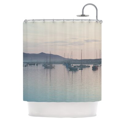 As the Sun Goes Down by Laura Evans Pastel Shower Curtain