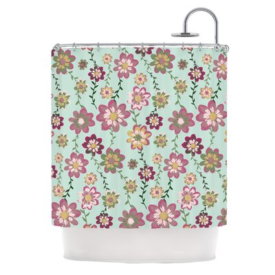 Romantic Floral by Nika Martinez Shower Curtain