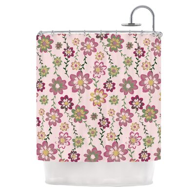 Romantic Flowers by Nika Martinez Blush Floral Shower Curtain