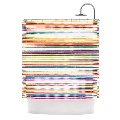Summer Stripes by Nika Martinez Abstract Shower Curtain