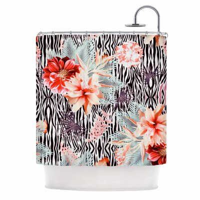 Tropical Fusion by Nika Martinez Floral Shower Curtain
