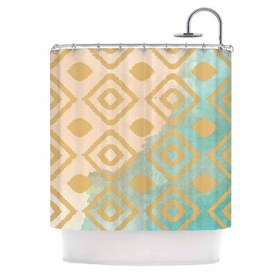 Watercolor Ikat by Nika Martinez Shower Curtain