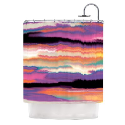 Artika by Nina May Shower Curtain Color: Purple/Orange