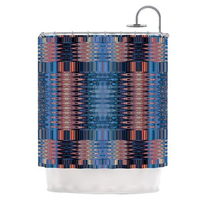 Larina Nueva Sky by Nina May Shower Curtain Color: Blue/Orange